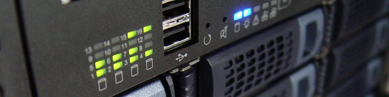 Closeup von Server-Hardware